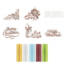 Couture Creations Highland Christmas Hotfoil - Kit 2 Stamps & Foil Me 5 pack 5% discount